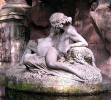 Auguste Ottin: Polyphème surprend Acis et Galatée, détail. 1866. Paris, Fontaine des Médicis, Jardin du Luxembourg