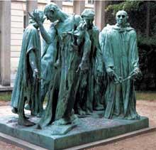 Auguste Rodin: les Bourgeois de Calais. 1889. Bronze, 217 x 255 x 177 cm. Paris, Musée Rodin