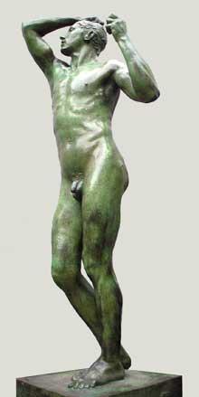 Auguste Rodin: Rodin l'âge d'airain 1877. Bronze, grandeur nature. Paris, musée d'Orsay