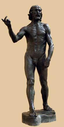 Auguste Rodin: saint Jean Baptiste. 18987. Bronze plus grand que nature. Paris, musée Rodin