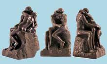 Auguste Rodin: le Baiser. Créé pour la porte de l'enfer, 1880. Paris, musée Rodin