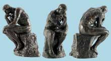 Auguste Rodin: le Penseur. Créé pour la porte de l'enfer, 1880. Paris, musée Rodin