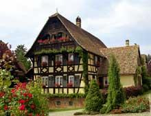Alteckendorf, pays de Hanau. Maison du XIXè. (La maison alsacienne)