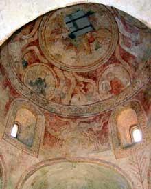Avolsheim: le baptistère Saint Ulrich: les fresques du XIIè