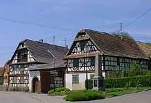 Berstett: splendide ferme du Kochersberg. (La maison alsacienne)
