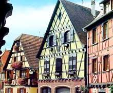 Dambach la Ville : maisons du centre ville. (La maison alsacienne)