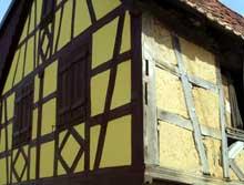 Dauendorf en pays de Hanau: ferme rénovée. (La maison alsacienne)