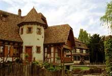 Diebolsheim: l'ancien et le nouveau... (La maison alsacienne)