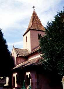 Epfig�: la chapelle Sainte Marguerite, joyau de l�art roman alsacien du XI-XII�