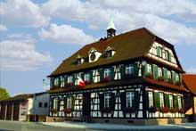 Gambsheim: la mairie. (La maison alsacienne)