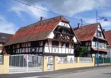 Gambsheim: maison, rue de la mairie. (La maison alsacienne)