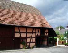 Gambsheim: grange, place de la mairie. XIXè. (La maison alsacienne)