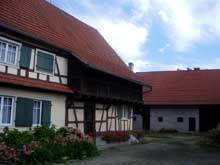 Gambsheim: galerie de ferme XIXè. (La maison alsacienne)