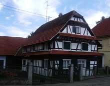 Gambsheim: maison typique de l'Uffried. (La maison alsacienne)