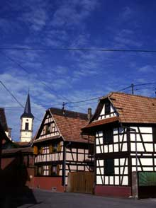 Geispolsheim: maisons paysannes. (La maison alsacienne)