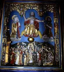 Haguenau: saint Nicolas: le retable du jugement dernier