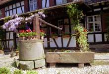 L'ancien relais de Poste de Hoerdt, XVIIIè. Puits à balancier. (La maison alsacienne)