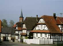 Hunspach, superbe village d'Outre Forêt. (La maison alsacienne)