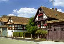 Lampertheim�: ferme du XVIII�. (La maison alsacienne)