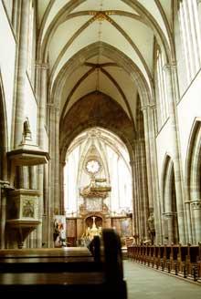 Marmoutier, l'abbatiale: l'intérieur de l'édifice