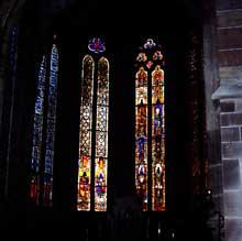 Niederhaslach: saint Florent, les vitraux du choeur