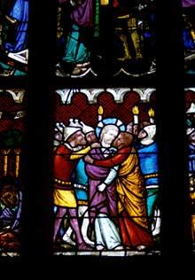 Niederhaslach: saint Florent, détail de scènes de la Passion du Christ