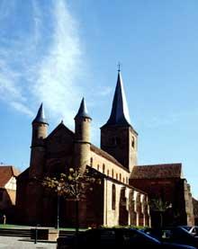 Neuwiller les Saverne: la collégiale Saint Adelphe