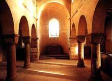 Neuwiller les Saverne, église saints Pierre te Paul: chapiteau roman de la chapelle saint Sébastien, XIIè