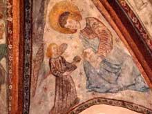 La Petite Pierre: clé de voûte la chapelle de l'Assomption du XVè
