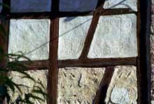 Pfulgriesheimen Kochersberg: décors symboliques du torchis d'une ferme. (La maison alsacienne)
