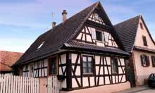 Riedseltz: maison à colombage. (La maison alsacienne)