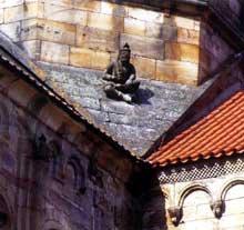 Rosheim, église saints Pierre et Paul: personnage assis