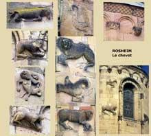 Rosheim: saints Pierre et Paul : le chevet et ses sculptures
