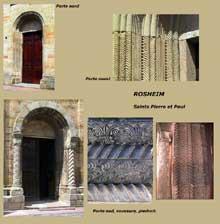 Rosheim: saints Pierre et Paul: les portes