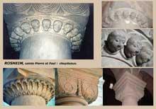 Rosheim: saints Pierre et Paul: chapiteaux