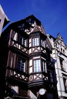Saverne: maisons dans la Grand'Rue: Colombages XVIIè et Renaissance… (La maison alsacienne)