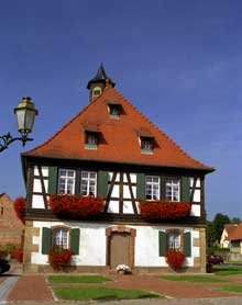 Seebach. La Mairie. (La maison alsacienne)