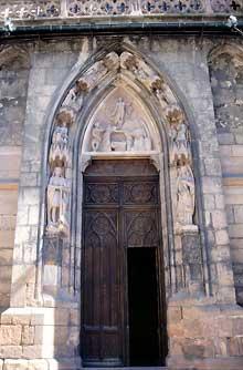 Sélestat: Saint Georges: le Portail de la façade occidentale