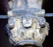 Sainte Foy de Sélestat: chapiteau du porche