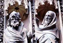 Strasbourg: la cathédrale: portail central de la façade occidentale: les Prophètes