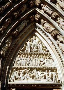 Fa�ade occidentale, portail sud�: tympan du jugement