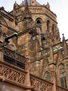Strasbourg, cath�drale: la tour de crois�e, du XIX�