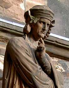 Strasbourg; cathédrale: Portail sud du transept: Erwin de Steinbach, détail
