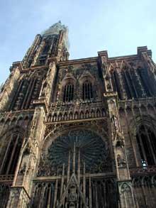 Strasbourg, cathédrale: la façade occidentale