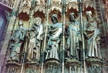 Strasbourg, cathédrale: portail de la façade occidentale: les prophètes