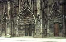 Strasbourg, cath�drale�: la fa�ade occidentale