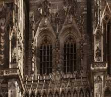 Strasbourg, cathédrale Notre Dame: la façade entre les deux tours