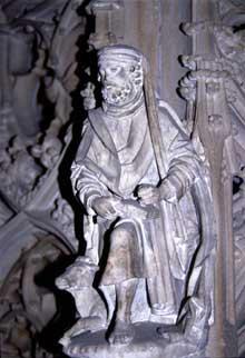 Strasbourg, cathédrale Notre Dame: détail de la chaire créée pour le grand Geiler