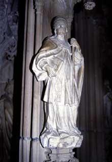 Strasbourg, cath�drale Notre Dame�: d�tail de la chaire cr��e pour le grand Geiler