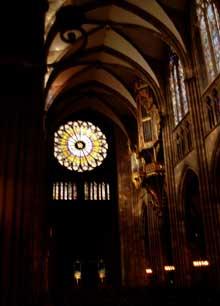 Strasbourg, cath�drale Notre Dame�: la nef centrale